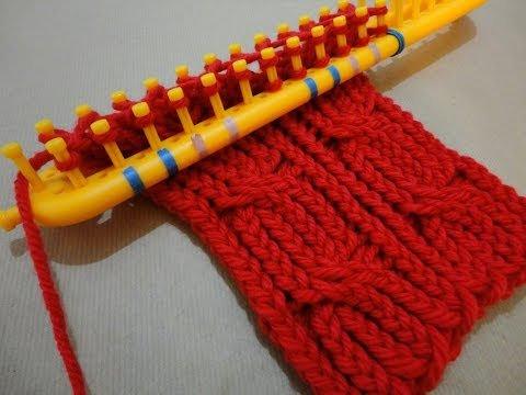 Вязание на луме - повязка на голову (мастер-класс) Вязание на длинном луме